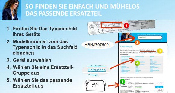 Creda Gas-Elektro Herd Ersatzteil Suche Info
